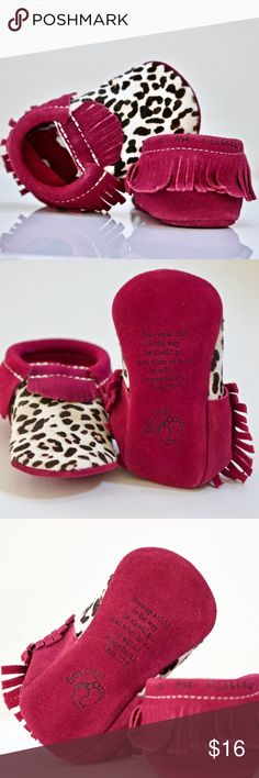 I'm Blessed Fist Steps Suede Faux Fur Moccasin New + rare First Steps I am Blessed and Prov. verse  + suede and faux fur moccasin + brand new + without tag or box + size 5 First Steps Shoes Moccasins
