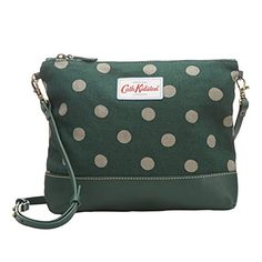 Cath Kidston Small Canvas Cross Body XBody Bag Polka Button Spot Dark Green -- You can find more details by visiting the image link.(This is an Amazon affiliate link and I receive a commission for the sales)