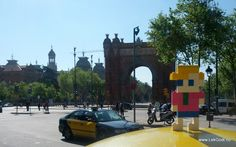 Barcelona 2012 LEGO - Life of George was also at the Arco de Triunfo de Barcelona . It is an.....