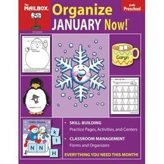 Organize January Now Preschool by The Education Center. $12.28. TEC60969 This exciting new approach to planning is just what you've been waiting for! No more spending time searching for just the right idea—this series will become your idea file to pull out each month when it's time to plan and get organized. Included are tons of ideas and activities for teaching the skills your students need while making time for the holidays and monthly occasions they love. 96 pages.
