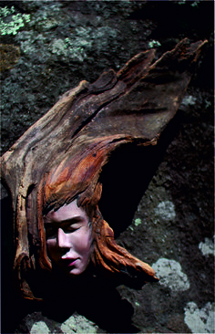 Woodspirit, made by Arnodo Stefano sculptures in wood