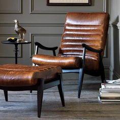 Hans Leather Chair (Hudsons Bay dwell studio chair is similar) Leather Furniture, Furniture Sale, Living Room Furniture, Rustic Furniture, Modern Furniture Design, Furniture Ideas, Plywood Furniture, Luxury Furniture, Modern Design