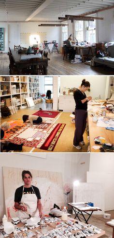 Tracy Emin in her studio in East London