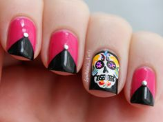 Spektor's Nails: Día De Los Muertos / Day Of The Dead - Sugar Skull Nails