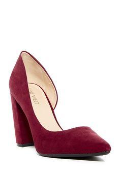 Image of Nine West Anisa d'Orsay Pump Red High Heels, Comfortable Fashion, Modern Fashion, Nine West, Block Heels, Footwear, Pumps, Shoe Bag, Nordstrom Rack