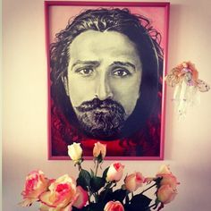 Meher Baba artwork by Diana LePage with roses