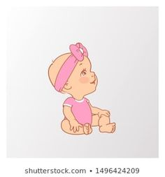 Cute Little Baby Girl, Little Babies, Age, Development Milestones, Illustration, Pink, Girls Wear, Bodysuit, Winnie The Pooh