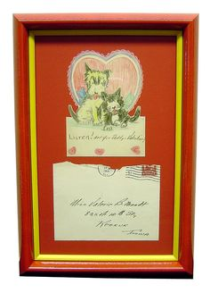 An adorable way to preserve and remember those special Valentines :-) #art #CustomFraming