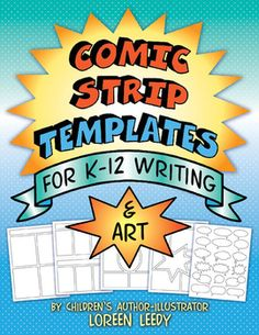 Comic Strip Templates for K-12 Writing and Art: kids of all ages love comics and these 30 templates can be used for a wide variety of projects such as biographies, math word problems, cause & effect, sequencing, and much more. A free sample is in the Preview. #comics $