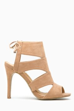 Camel Faux Suede Cut Out Open Toe Lace Up Heels @ Cicihot Heel Shoes online store sales:Stiletto Heel Shoes,High Heel Pumps,Womens High Heel Shoes,Prom Shoes,Summer Shoes,Spring Shoes,Spool Heel,Womens Dress Shoes