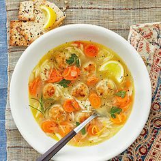 Tasty Tuesday: Lemon, Orzo & {Chicken} Meatball Soup. - Fried Green Pickles