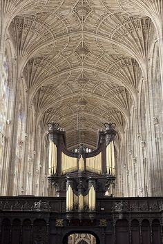 King's College Chapel's fan vaulting and Tudor screen