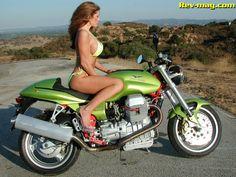 Hot girl fast bike