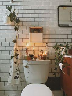 Wc Decoration, Boho Home, H&m Home, Dream Apartment, Apartment Ideas, Scandinavian Home, Bathroom Inspiration, Bathroom Ideas, Bathroom Trends