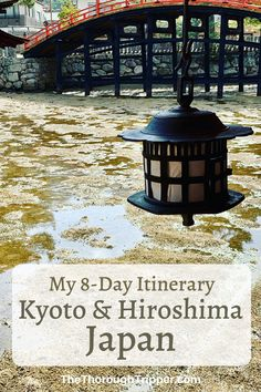 Check out my 8-Day itinerary For Kyoto and Hiroshima Japan.  I'll show you how I used public transportation and where I stayed.  I'll also show you my favorite daily sites and meals.  This Itinerary includes Kyoto, Osaka, Nara, Hiroshima, and Miyajima Island #Kyoto #JapanTravel #Miyajima