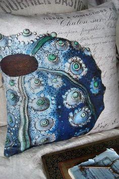 Pillow Cover Beach Decor Blue Green Shell Sea