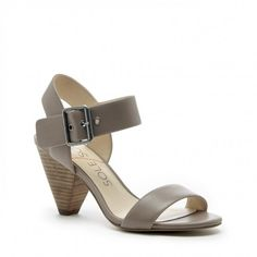 Sole Society Missy Leather Mid Heel Sandals Moro 5 | Shoes and Footwear