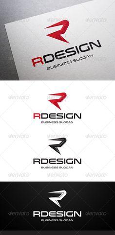 Rdesign R Letter - Logo Design Template Vector #logotype Download it here: http://graphicriver.net/item/rdesign-r-letter-logo/5455258?s_rank=80?ref=nexion