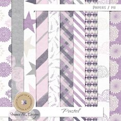 Pastel - Papers by France M. Designs | September 2014 Memory Mix @ Memory Scraps