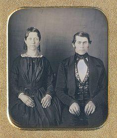 Daguerreotype of a couple (via Dennis A. Waters Fine Daguerreotypes)