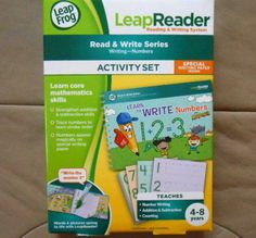 LeapFrog LeapReader Read and Write Series Writing Numbers Activity Set NEW 4-8