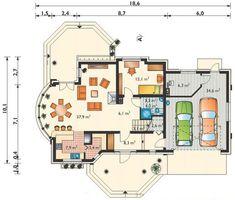 Projekt domu Heliodor (Archeton Sp. z o.o.) Floor Plans, Heidelberg, Floor Plan Drawing, House Floor Plans