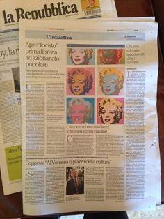 Su La Repubblica #iocistolibreria #lalibreriaditutti #larepubblica #napoli #books #libri #italy   http://www.iocistolibreria.it
