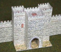 Gatehouse of Medieval Castle for Diorama Free Building Paper Model Download
