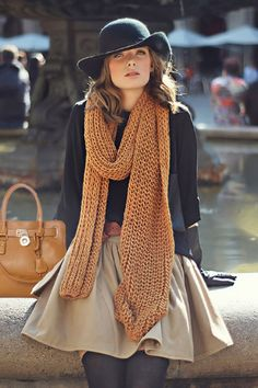 There's nothing like a giant scarf to make you feel comfy and fall ready.