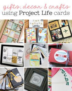 If your stash is overflowing with Project Life cards, and you have no idea how to use them in your scrapbook albums, check out these 10 ideas for using project life cards for cards, gifts and decor… Project Life Storage, Project Life Travel, Project Life Baby, Project Life Organization, Project Life Freebies, Project Life Album, Project Life Layouts, Project Life Cards, Project 365