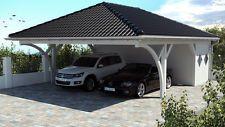 NEU Premium Carport 7.60 x 8.80 mit Geräteraum 33% Onlinerabatt Carport ab Werk