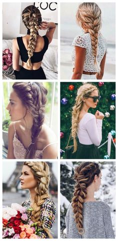 Inspiración De Peinados Con Trenzas Para Llevar Todos Los Días - hairstyles trenzas boda hairstyles trenzas facil Best Wedding Hairstyles, Party Hairstyles, Bride Hairstyles, Beautiful Hairstyles, Hairstyle Ideas, Thin Hair Updo, Underlights Hair, Bridesmaid Hair Updo, Braided Bun Hairstyles