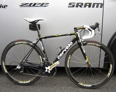 Carlos Sastre Special Edition Paris Cervelo R3 with SRAM Red and Zipp 404