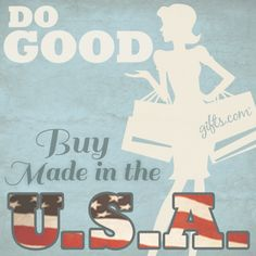Made in America Gifts. Give a gift that will support American jobs, support local artists, and keep traditions alive! #USAGifts #MadeInTheUSA