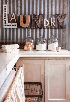 Funky Vintage Laundry Wall Sign