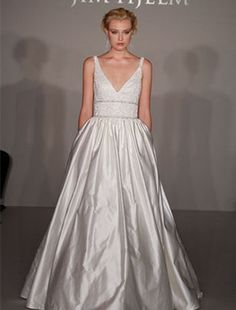 Bridal Gowns: Jim Hjelm Princess/Ball Gown Wedding Dress with V-Neck Neckline and Natural Waist Waistline Wedding Dress Train, Wedding Dresses 2014, Wedding Attire, Gown Wedding, Dream Wedding, Wedding Things, Wedding Stuff, Prom Dresses, Bridal Gown Styles