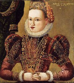 1593 Unknown artist in the manner of Ludger tom Ring the Younger (1522-1584) Portrait of a Noblewoman