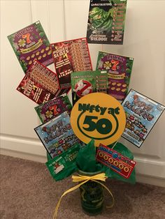 Gift card bouquet i like this idea for a gift for my wedding gift card bouquet for the ndsu fan who is turning 50 i used play dough negle Choice Image