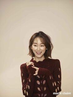 Seo Hyun Jin shows off her cute bob in 'Marie Claire' Korean Short Hair, Korean Girl, Seo Hyun Jin, Natural Hair Styles, Short Hair Styles, Cute Bob, Hair Again, Korean Actresses, Kpop