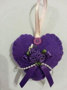 Purple felt heart - The Supermums Craft Fair
