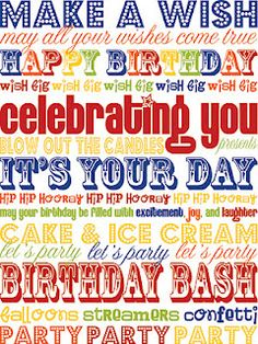 free Birthday printable - 8x10 or 5x7
