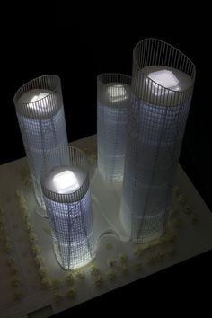 Chongqing Business Center Proposal by United Design Group (Design Team: Hu Wei, Feng Hai Hua, Wu Shan Shan) / Chongqing, China