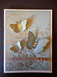 Swirls and Butterflies from Hero Arts using Leafy Vine S5634