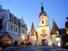 Krems, Austria where we stopped while bicycle touring the Danube. Our hotel built in 1584 was located just the other side of this tower. Budapest, Austria, Places Ive Been, Places To Go, Wachau Valley, Romantic Road, Danube River, Bike Trails, Cruise