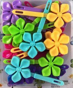 Pastel Flower Kids Barrettes Neon Flowers, Hair Beads, Twist Braids, Girls Hair Accessories, Girl Hairstyles, Purple, Pink, Toddler Girl, Headbands