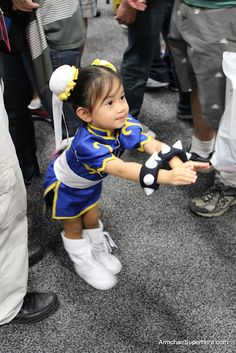 Chibi Chun-Li  I saw this little girl again this year at comic con!!!!