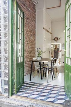 Puertas de colores para casas alegres