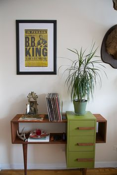 V Cool handmade credenza | Sarah & Lindsay Share a Simple, Southwestern-Inspired Space in Chicago
