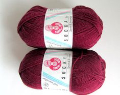 55% OFF/ (U Save 11.00)SOCKA 50//*(2x50gr.Balls) by-Stahal Wool for Socks/Collor Burgundy.//2 Balls Makes 1 pair Adult sock.//Was(20.00)Now!