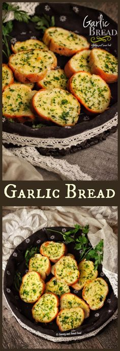 This delish and simple garlic bread without cheese is the perfect accompaniment with pasta, pizza or you can just have it alone. It is so good that you will be in Garlic Bread heaven when you have it.